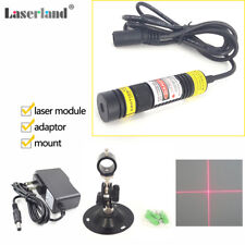 1668 650nm 50mW Focusable Red Laser Cross Hair Line Module w/ Lock-Focus-Ring