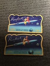 Vintage Space Rocket Ship Silver Gold Eye Sewing Needles Lot