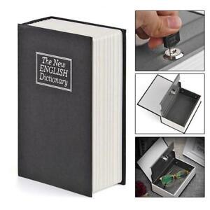 Secret Dictionary Book Safe Money Metal Cash Security Box Stash Lock Key S3R0