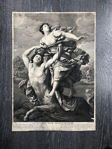 ancienne gravure Le Centaure Nesse Enleve Dejanire XX Ou XIXeme
