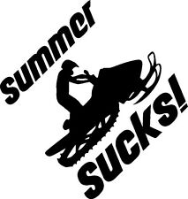 Snowmobile (summer sucks) funny vinyl decal sticker sled