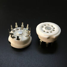 100Pcs 9Pin Pcb Ceramic Vacuum Tube Socket Valve Base 12Au7 Ecc83 El84 6N11 6N3