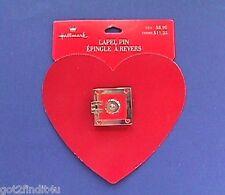 BUY1&GET1@50%~Hallmark PIN Valentines ❤️ MOC SAFE Open HEART Enameled METAL