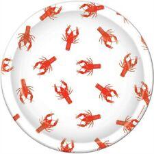 Crawfish 9 Inch Paper Plates Crawfish Party Supplies Mardi Gras Party Decoration