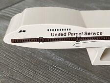 Alcraft United Parcel Service Airplane Solid Metal Paperweight Quartz Clock Ups