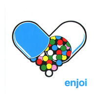 Enjoi - Pillz Skateboard Sticker skate board bmx surf snow pills tablets heart
