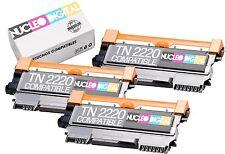 3X Toner compatible TN2010 para Brother  HL-2135W - HL2135 W - HL 2135 W