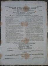 1797 PROCLAMA REPUBBLICA CISALPINA SULLA FORMAZIONE DI UN ESERCITO VOLONTARIO