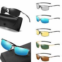 Aluminium HD Polarized Photochromic Sunglasses Mens Driving Eyewear Glasses