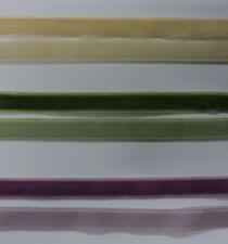 velvet ribbon single sided various colours PRICE PER METRE