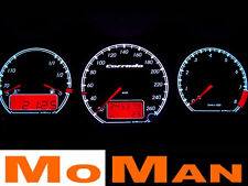 VW CORRADO plasma tacho illuminated glow gauge plasma dial tachoscheiben KMH MPH