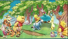 "Wallpaper Border Paper Winnie Pooh Tigger Disney Lot of 4 DF059121B prepasted 7"""