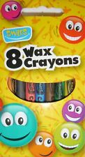 Smiles Stationary - 8 Wax Crayons - Art Coloring Party Fillers