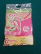 STRAWBERRY SHORTCAKE - 8 THANK YOU CARDS - 8 Postcards, Envelopes & Seals