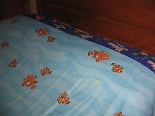 "Finding Nemo 3 Piece Twin Size Sheet Set Disney ""Just Keep Swimming "" Disney"