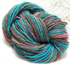 "Handpainted Hand-Dyed Worsted Organic Merino Wool Yarn - ""Living In A Fishbowl"""