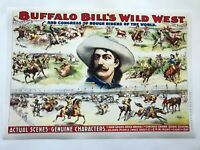 XL,HI-Q Facsimile of 1896 Buffalo Bill's Wild West Show Poster Rough Riders