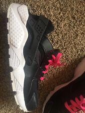Huarache Run GS Nike Trainers Black White Pink Jordan Free 654280