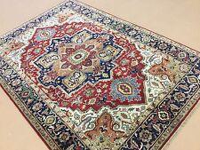 "Persian Oriental Area Rug Serapi Hand Knotted Wool Reddish Rust 6'.0"" X 8'.9"""