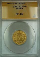 1817-A France 20 Fr Francs Gold Coin ANACS EF-45
