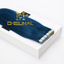 8A Seamless Tape In Skin Weft 100% Remy Human Hair Extensions 16-26Inch