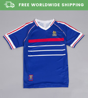 France 1998 World Cup Home Jersey Maillot Shirt Kit Zidane Henry Sizes S-XXL