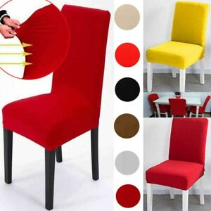 Stretch Dining Room Chair Cover Seat Slipcover  Ceremony Banquet Wedding Party