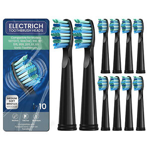 10 PCS Electric Toothbrush Replacement Heads fit for Seago&Fairywill Medium Soft