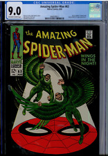 Amazing Spider-Man #63 CGC 9.0 OW/WHITE pages  JET BLACK COVER  Vulture