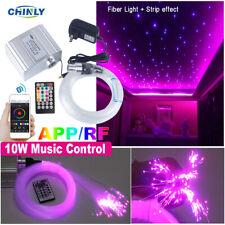 Twinkle Fiber Optic Light Bluetooth APP Control 10W Ceiling Lights 200pcs Fibers