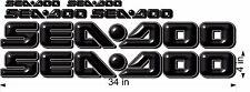"Sea-Doo 3D Logo / Black / 34"" Vinyl Personal Watercraft Replacement Bonus Decals"