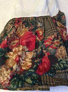 Ralph Lauren Catherine Multi Floral Full/Double/Matrimonial Bed Skirt NIOP