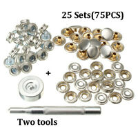 25X Stainless Steel Snap Fastener Buttons&Sockets for Marine Boat Covers Canvas