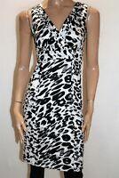 JACQUI-E Brand Black White Animal Print Sleeveless Dress Size 6 #AN02