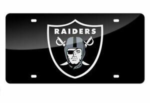 Las Vegas Raiders NFL Black Shield Design Laser Tag License Plate