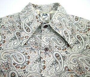 Vintage 70s Kennington Disco Shirt Paisley Hippie Fly Collar Body Fit Men Med
