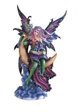 "12"" Inch Fairy with an Owl on Moon Statue Figurine Figure Fairies Magic Fantasy"
