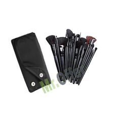 Set Kit 18 makeup brushes make up pochette brush bag faux leather beauticians
