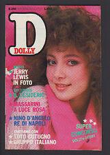 DOLLY 280/1984 TOTO CUTUGNO NINO D'ANGELO MARCO ARMANI GRUPPO ITALIANO POSTER