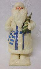 Vtg Spun Cotton Batting Costume Papier Mache Christmas Santa Claus Figure