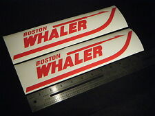 "Boston Whaler Red Decal 12"" Stickers (Pair)"