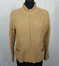 Outfit JPR Tan Zip Up Cable Knit Sweater Size L
