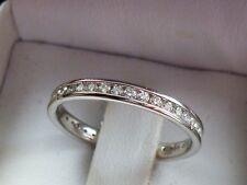 NEW 1/2ct Diamond Anniversary Eternity Channel-Set Ring Band 14K White Gold Sz 7