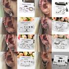 Gothic Sterling Tibetan Silver Hoops Ear Cuff Cartilage Wrap Ear Studs Earring