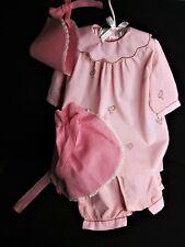 4 Pieces of Vintage Children's Clothing, Hat, Dress, Panties & Apron 1920's - 30