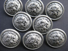18mm Med Antique Silver Rampant Lion Domed Vintage Coat  Sewing Buttons Set 8
