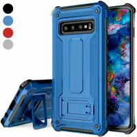 For Samsung Galaxy S10/Plus/S10e Phone Case Three Layer Armor Kickstand Cover
