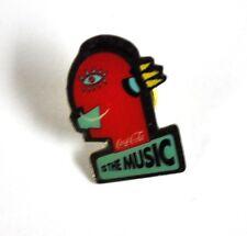 Coca Cola Coke EE.UU. Solapa Pin Botón Divisa Pin de solapa - rojo Cabeza Música