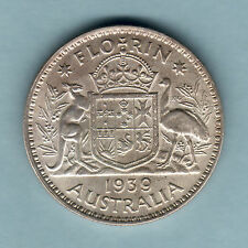Australia.  1939 Florin..  Full Lustre on reverse..  gEF/aUNC