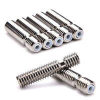 2x Stainless Steel Nozzle Throat Fr Reprap 3D Printer Extruder Hot End 1.75mm